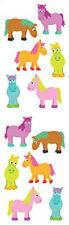 Mrs. Grossman's Stickers - Chubby Ponies - Horses - 4 Strips