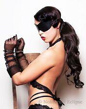 Black Leather Adult Blindfold Fantasy Eye Cover Costume Party Gift UNISEX