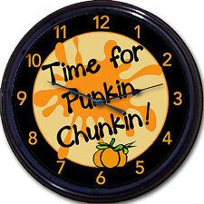 "Pumpkin Chunking Time For Punkin Chunkin! Wall Clock Sport Man Cave New 10"""