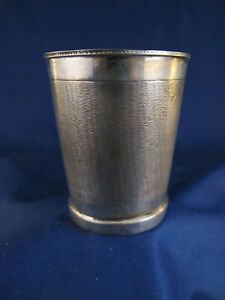 """c1800 Polish silver hand made beaker cup - signed """"12"""""""