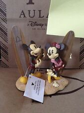 Disney Aulani Resort MICKEY & MINNIE MOUSE Photo Holder Statue 2 slots NWOT