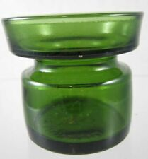 Vintage - Dansk Design - Green Glass Candle Holder - IHQ