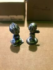 Lot Qty 2 Vintage Betsey Clark Pewter Figurine Prayer, and God Bless You