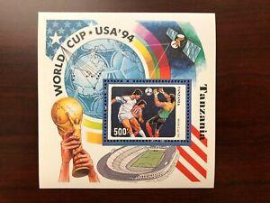 Tanzania 1994 Scott #1174H Souvenir Sheet World Cup Soccer Championship Mint NH