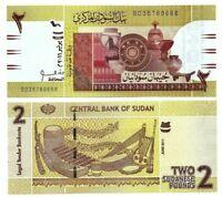 SUDAN 2 Pounds (2011) P-71A UNC Banknote Paper Money