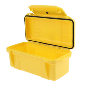 Shockproof Waterproof Storage Box Camping Boating Container Outdoors Yellow