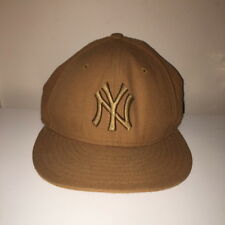 New York Yankees Brown New Era Fitted Baseabll Hat MLB Size 7 1/4