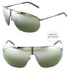 329039de94a GUCCI Aviator Shield Men Sunglasses GG 2201 S WXN2N Black Olive Green  Mirrored
