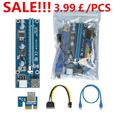 USB 3.0 PCI-E Express 1x To 16x GPU Extender Riser Card Adapter Power Cable