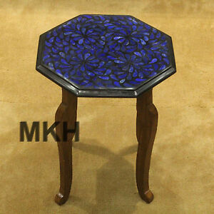 table corner mosaic inlay work marble tables side end hand made work decor gifts