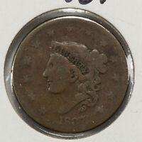 1837 1c Coronet Head Large Cent SKU-Y2555