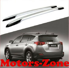 For 13-16 Toyota RAV4 OE Style Roof Rack Side Rails Bars Silver Pair Aluminum