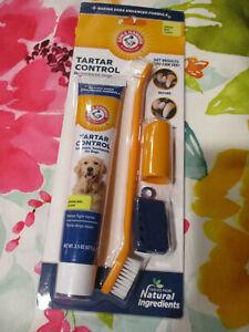 Arm & Hammer Dental Kit DOG Toothbrush BANANA MINT Toothpaste + Finger Brush