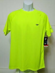 Men's Speedo Short Sleeve T-Shirts UPF 50+ Protection Safety Yellow Tee
