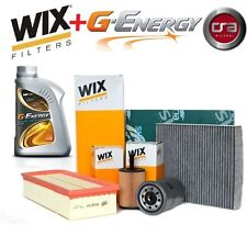 KIT TAGLIANDO OLIO MOTORE G-ENERGY 5W30 6LT + 4 FILTRI WIX BMW 320D E90 177 CV