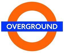 Train Tube Overground  London Logo Print  Sticker Decal Graphic Vinyl Label