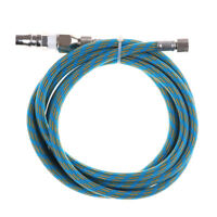 6'Braided Airbrush AirHose Adapter w/2x 1/8'' BSP Fitting Coupling Compressor Jf
