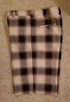 Mens Golf Shorts - Hollywood Bags - Size 42 waist - NEW CREME & Plum
