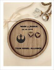 Wedding Ring Bearer Tray, Dish, Plate: Personalised Star Wars - Rebel Alliance