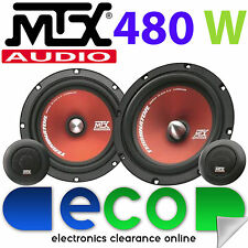 "Honda Civic 2006 - 2012 MTX 6.5"" 480 Watts Component Kit Front Door Car Speakers"