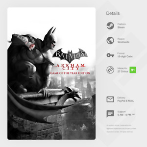 Batman: Arkham City Game of the Year Edition GOTY (PC) - Steam Key [GLOBAL]