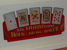 Large Vintage Poker Perspex Card Framed Display Piece Ideal for any Mancave