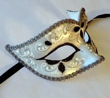 Masquerade Mask OVERNIGHT Delivery Aust Metro - MADE IN ITALY- Anna Black /Silv