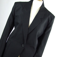 Womens Grey Suit Jacket 18 Classic Woman Polyester Regular Hip Length Plain