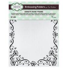"""Creative Expressions Embossing Folder ~ Ornate Rose Frame, 5.3/4""""X7.5 EF085"""