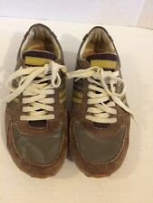 """Diesel """"Parapat"""" Brown Leather Lace Up Shoe Sneaker Women's 8.5W Euro 39"""