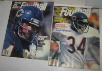 2 LOT Walter Payton Covers 1984 & 1985 Street & Smith Pro Football Yearbook Mags