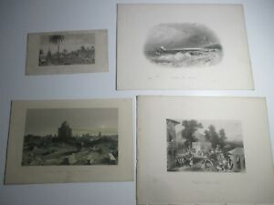 INDIA – EARLY ENGRAVINGS  - MIXED BUNDLE X 12
