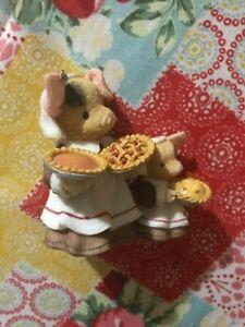 Vintage Enesco This Little Piggy Happy Hogsgiving Thanksgiving Figurine 187763