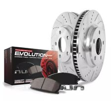 Powerstop Cross Drilled Slotted Front Brake Kit And Pads For Subaru Impreza
