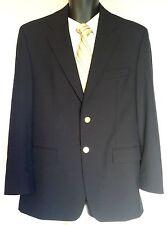 Polo University Ralph Lauren Mens 41 R Blue Blazer Gold Crest Buttons
