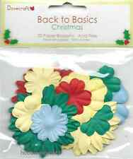 DOVECRAFT BACK TO BASICS CHRISTMAS PAPER BLOSSOMS - 30 FLOWERS