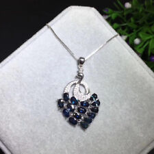 14k White Gold Tanzanite Diamond Pendant