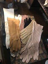 Bulk Lot Antique Frech Leather Gloves 8 pairs
