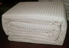 100% Cotton CHUNKY WAFFLE Queen Quilt Cover Set STONE Doona Duvet Beige - NEW