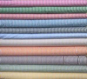 Stripes Fabric 5mm 100% Cotton Material 147cm Wide By The Metre Quilts Crafting