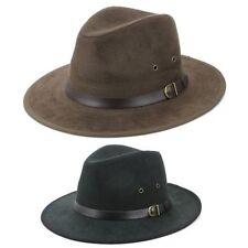Sombrero Fedora Negro Marrón Hawkins Borsalino PANAMÁ Hombre Mujer Viaje SOL