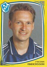 072 FREDRIK ANDERSSON # SWEDEN HALMSTADS.BK STICKER FOTBOLL ALLSVENSKAN 2000
