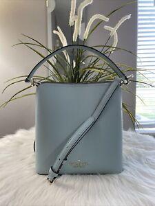 NWT Kate Spade New York Darcy Small Bucket Crossbody Bag Cloud Mist $329 Gift