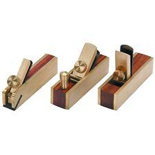 3pc Micro Brass Block Plane, Bullnose & Scraper 4 Wood Working Craft Planar Tool