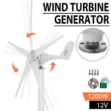 1200W 12V DC Wind Turbine Generator Unit 5 Blades With Power Charge Controller