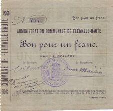 Flémalle Haute      1 franc   rare