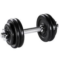 Mancuerna con pesas 15kg halteras de fitnes acero hierro musculación gimnasio