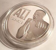 "2016 ""MUHAMMAD ALI"" Tribute Coin, 1 0z 999 Fine Silver Plated, token, Boxing"