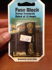 Littelfuse Inc Fuse Block Screw Terminals Rated At 15 Amps