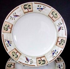 "(1) Mikasa Fine Ivory 12"" Plate Dinner Charger Chop Serving Birds Trees"